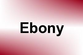 Ebony name image