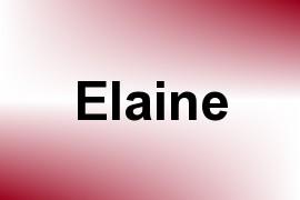 Elaine name image