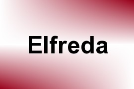 Elfreda name image