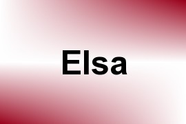 Elsa name image