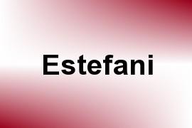 Estefani name image