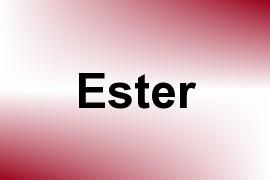 Ester name image
