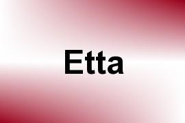 Etta name image