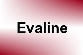 Evaline name image
