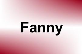 Fanny name image