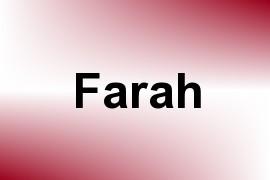 Farah name image