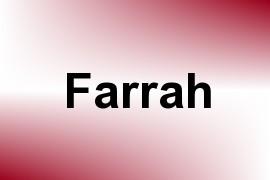 Farrah name image