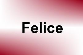 Felice name image