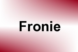 Fronie name image