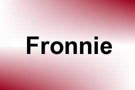 Fronnie name image