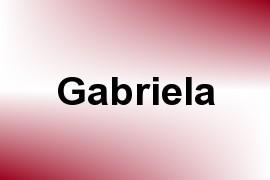 Gabriela name image