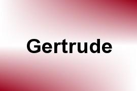 Gertrude name image