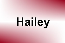 Hailey name image