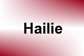 Hailie name image