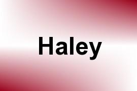 Haley name image