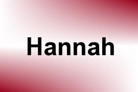 Hannah name image