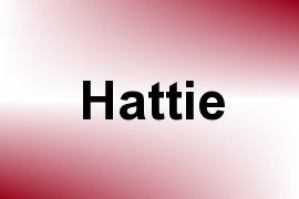 Hattie name image
