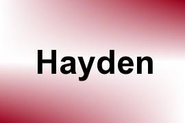 Hayden name image