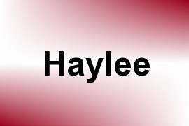 Haylee name image