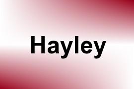 Hayley name image