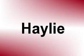 Haylie name image