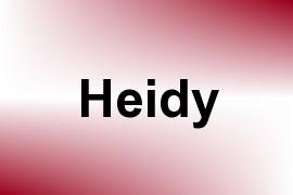 Heidy name image