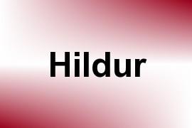 Hildur name image