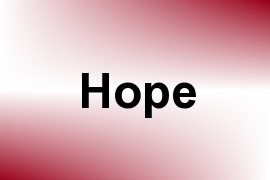 Hope name image