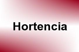 Hortencia name image