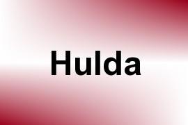 Hulda name image