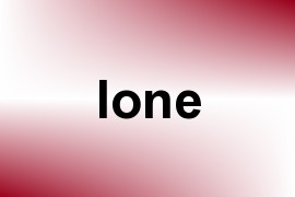 Ione name image