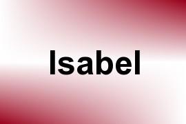Isabel name image