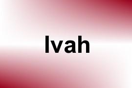Ivah name image