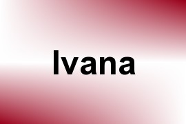 Ivana name image