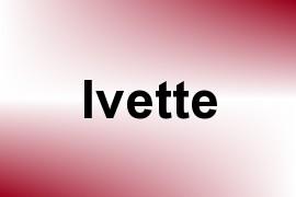 Ivette name image