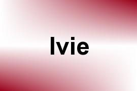Ivie name image
