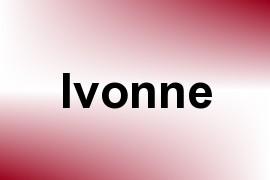 Ivonne name image