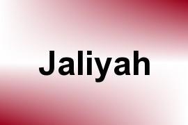 Jaliyah name image