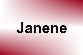 Janene name image
