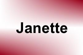 Janette name image