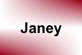 Janey name image