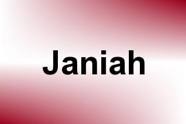 Janiah name image