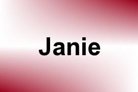Janie name image