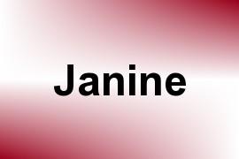 Janine name image