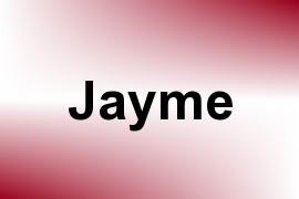 Jayme name image