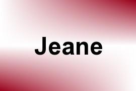 Jeane name image