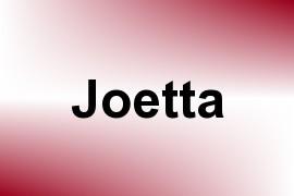 Joetta name image