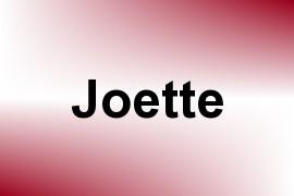 Joette name image