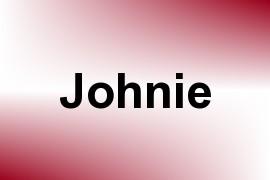 Johnie name image