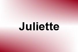 Juliette name image